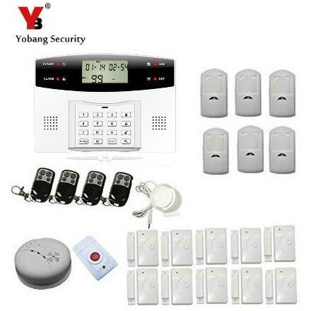 YobangSecurity Russian Spanish French Italian Czech Voice Wireless Wired GSM Home Security Burglar Alarm System Wireless Siren
