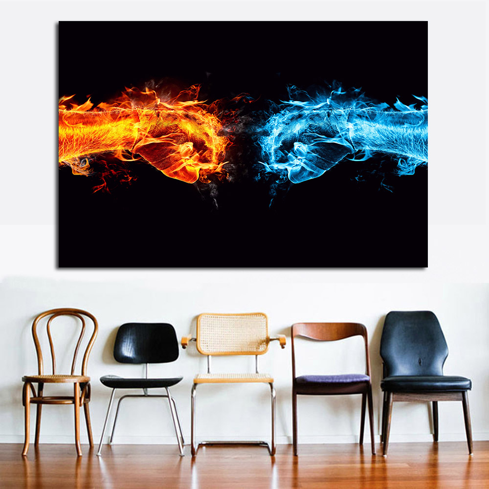 JQHYART Oil Painting Abstract Cool Hand Moder Home Decor Picture Wall Pictures For Living Room No Frame Canvas Art no frame canvas