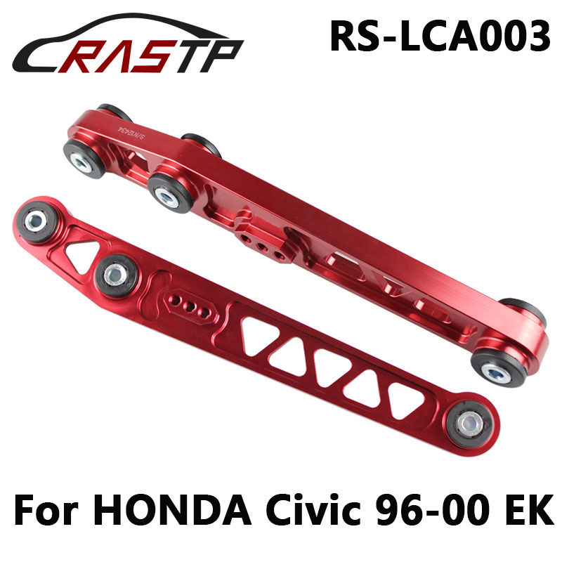 RASTP Racing Modified Aluminum Rear Lower Control Arms For HONDA Civic 1996-2000 EK RS3-LCA003