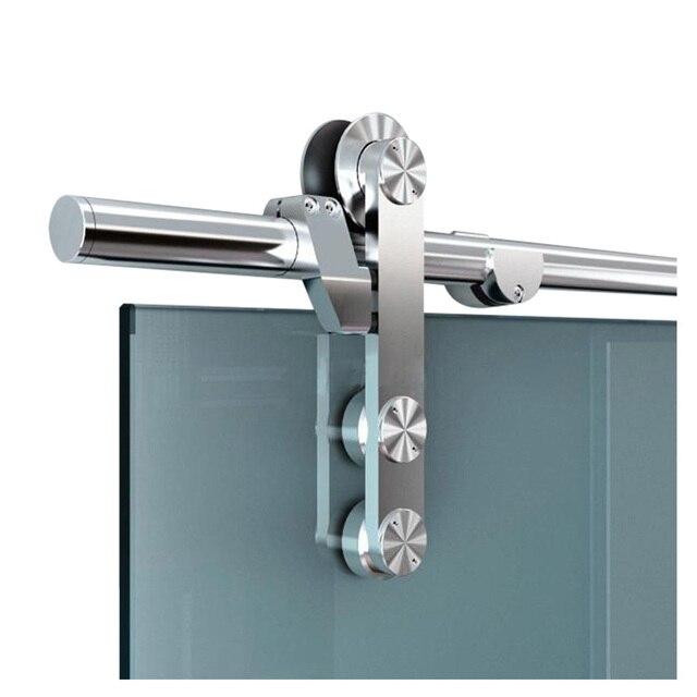 Diyhd Glass Barn Door Hardware Frameless Glass Sliding Door Track