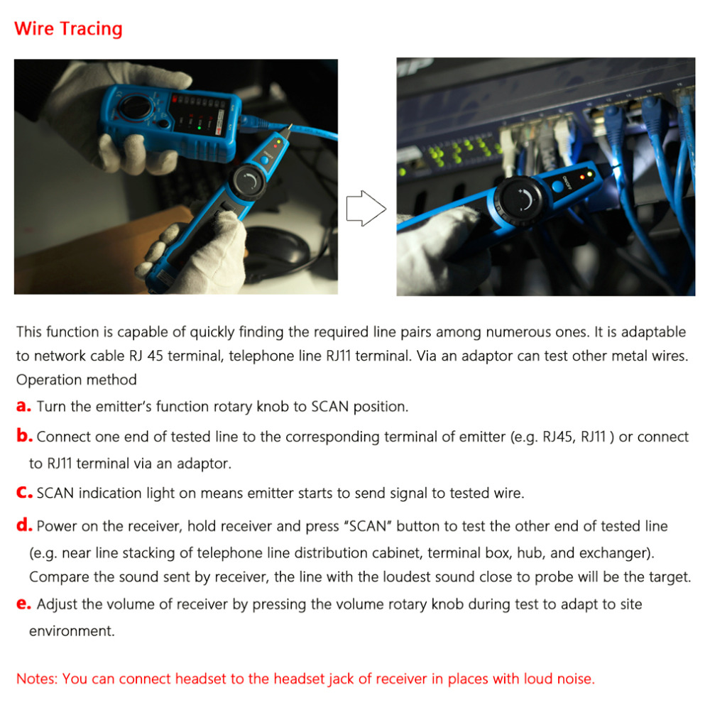 High Quality Rj11 Rj45 Cat5 Cat6 Telephone Wire Tracker Tracer Toner Phone Wiring Getsubject Aeproduct
