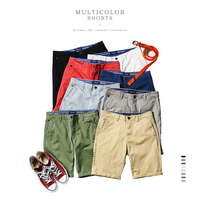 SIMWOOD 2017 Summer New Casual Shorts Men Cotton Sim Fit Solid 8 Color Available Fifth Pants