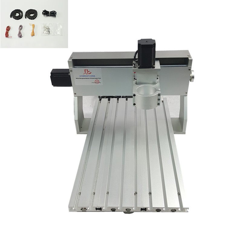 3 axis DIY metal mini cnc router frame 6040 PCB engraving machine parts with limit switch cnc 3040 cnc router cnc machine 3 4 5 axis mini engraving machine woodworking tools diy hy 3040 high quality metal acrylic