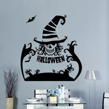 Halloween Decoration Concise Removeable Waterproof Eco-friendly Windown Home Sticker Wall Sticker Party DIY Decoration colorful toys removeable wall sticker