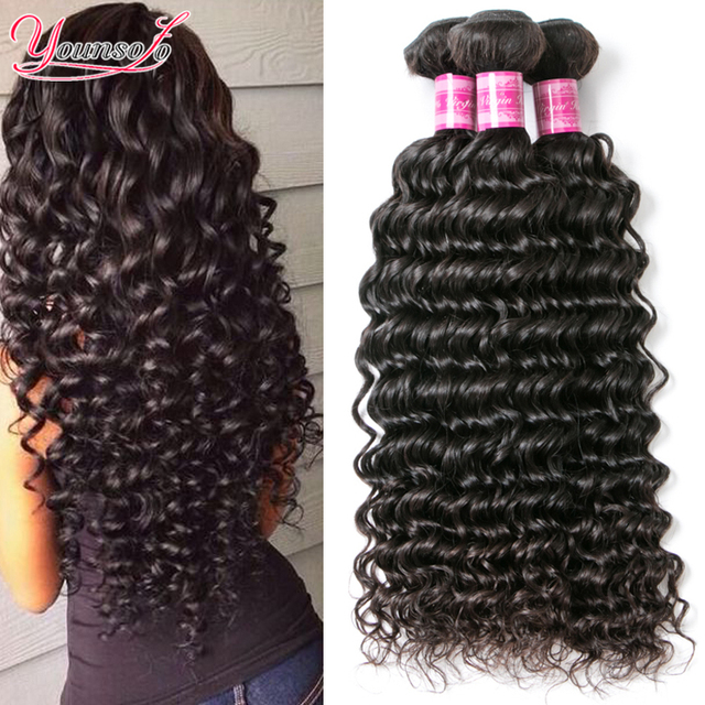 8A Brazilian Deep Curly Virgin Hair Rosa Hair Products Brazilian Deep Wave 4 Bundles Brazilian Hair Weave Bundles Human Hair