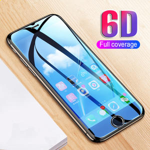 6D Curved Edge Protective Glass on the For iPhone 7 8 6 6s Plus Tempered Screen Protector Film Full Cover Glass 7 8 Plus Film