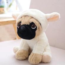 1pc 20cm 7 Styles Simulation Shar Pei Dogs Stuffed Soft Animal Puppy Pet Plush Toys Cute Kawaii Doll for Kids Baby Children Gift стоимость