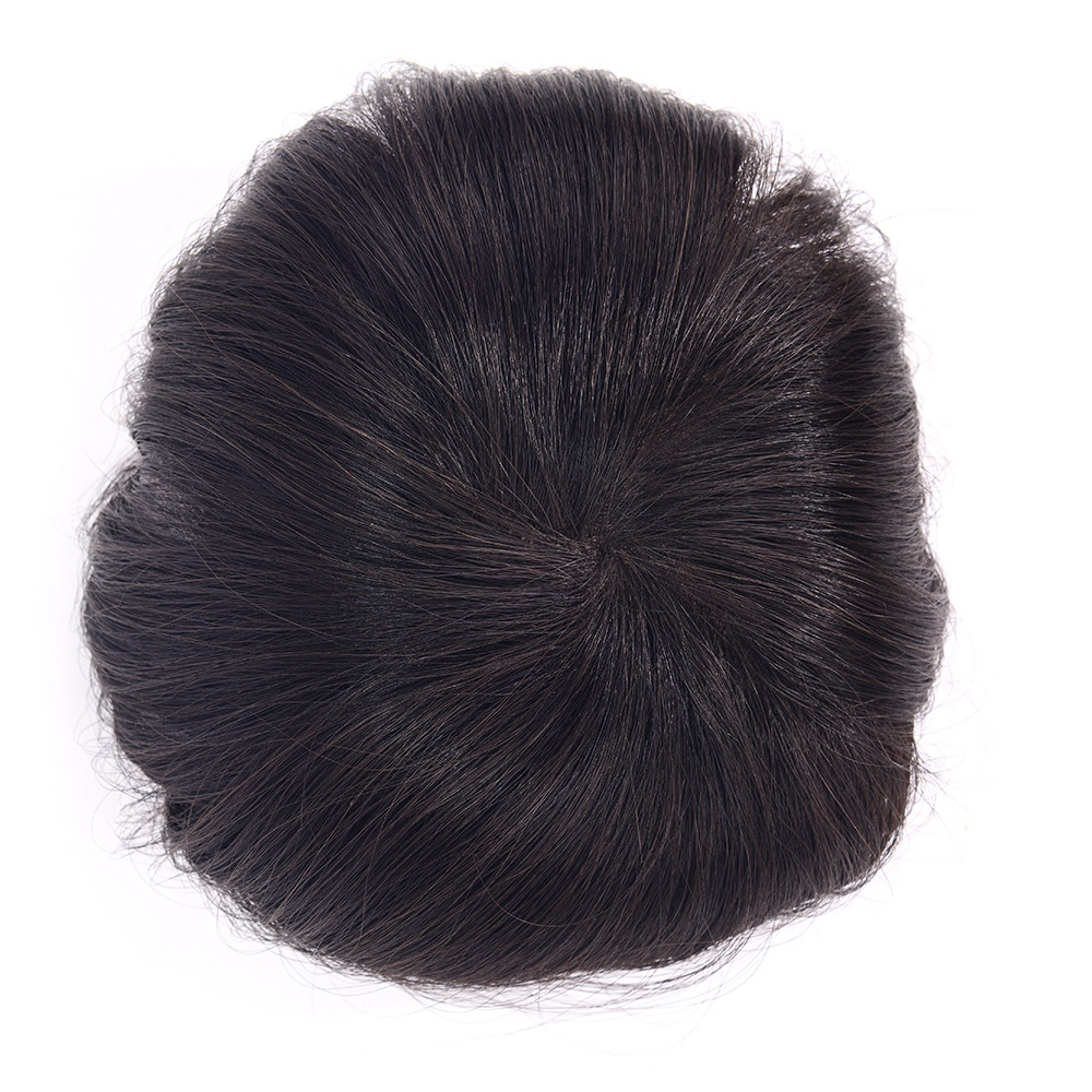 LADYSTAR Remy Human Mens Toupee Mono Hair Piece With Super Real Hair Replacement Indian Hair Men Hair Wig