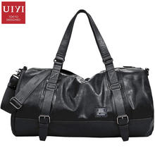 UIYI Casual Brand Men Handbag Soft PU Leather Messenger Crossbody Bag Travel Male Tote Satchel Shoulder Bags Zipper Solid 140085