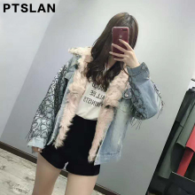 woman lamb fur coat parkas outwear 2 in 1 detachable lining winter jacket brand style fashion