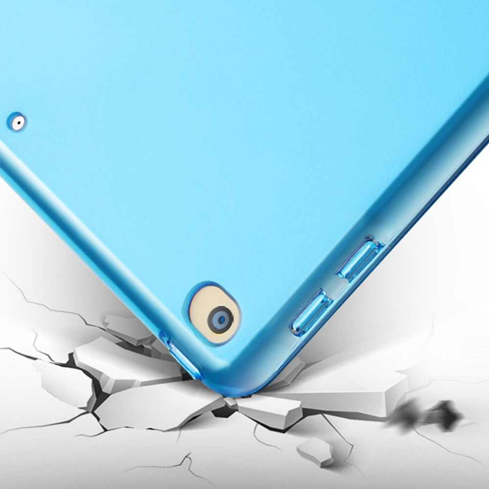 פתוח-חכם תלת לקפל מגן מקרה Flip Tablet מחזיק שקוף חזרה כיסוי עמיד למים מעטפת מתקפל עבור iPad Mini 5 2019