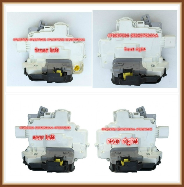 Free Shipping Door Lock Actuator Latch Central Mechanism for Audi A3 A6 C6 Allroad A8 for Seat Exeo 4F1837016E/G 8E1837016AA