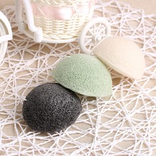 New 1PCS Natural Konjac Konnyaku Facial Puff Face Cleanse Washing Sponge Exfoliator Cleansing Sponge Puff Facial Cleanser