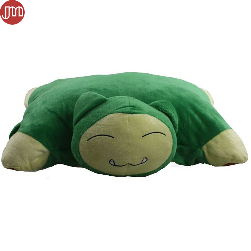 Aliexpress.com : Buy OHMETOY Snorlax Plush Pillow Cushion ...