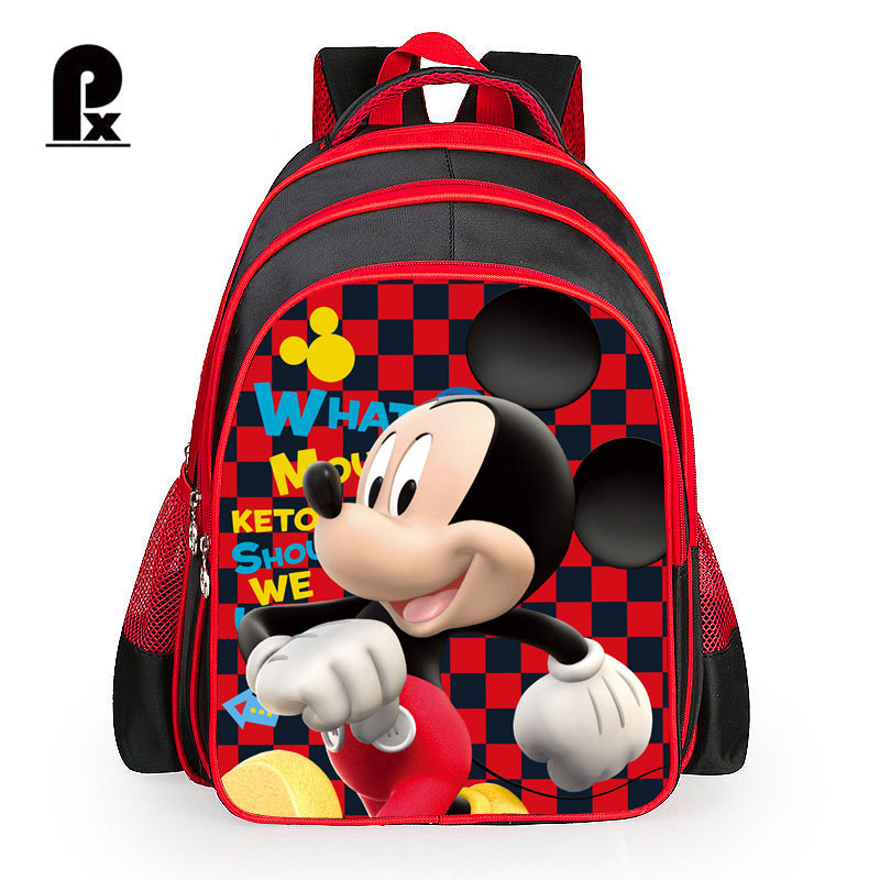 Children School Bag Mickey Minnie Mouse Backpack Cartoon Student School Bags Pupils Backpacks for Boys Girls