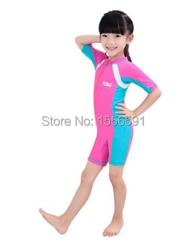 professional sport girls swimming clothes .sexy  children swimsuit female kids sleeveless swimwear wholesale