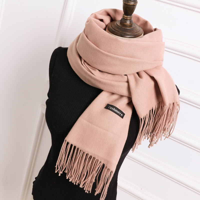 Hot Sale Camel   Scarf   Pashmina Cashmere   Scarf     Wrap   Shawl Winter   Scarf   Women   Scarves   Tassel Long Blanket Cachecol High Quality