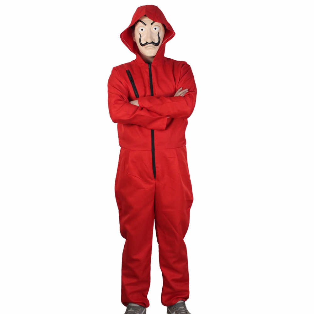 Salvador Dali Movie Costume Cosplay Money Heist The House of Paper La Casa De Papel Cosplay Costumes+Face Mask2