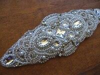 Rhinestone Bridal Sash Applique Crystal Applique Swarovski Crystal Applique Bridal Applique