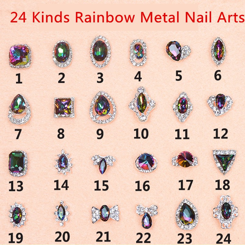 do arco-íris pedras de cristal 3D prego