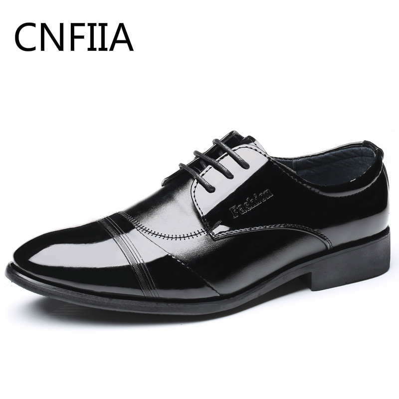 CNFIIA Men Formal Shoes Dress Oxford Shoes for Men Social Shoe Man Luxury Brand Classic Male 2018 New Cheap Black Casual Office