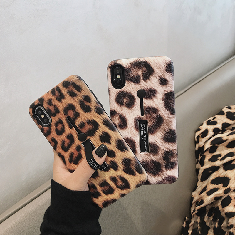 Mode Leopard <font><b>Print</b></font> Telefon Fall Für <font><b>iphone</b></font> <font><b>XS</b></font> <font><b>Max</b></font> Fall Für <font><b>iphone</b></font> XR <font><b>X</b></font> 6S 6 7 8 Plus luxus Abdeckung Hard <font><b>Cases</b></font> Capa image