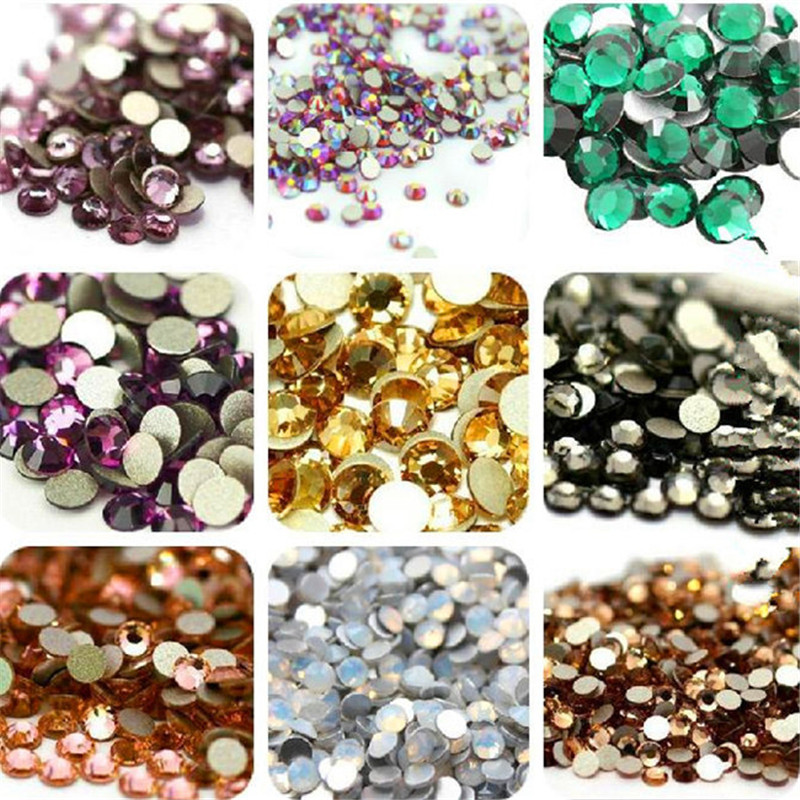 Super Shiny 1440PCS/Pack SS4 1.5-1.6mm Crystal Glitter Stone Non Hotfix For Nail Art Decorations Flatback Rhinestones 4ss super shiny 1440pcs ss16 3 8 4mm clear ab glitter non hotfix crystal ab color 3d nail art decorations flatback rhinestones 16ss