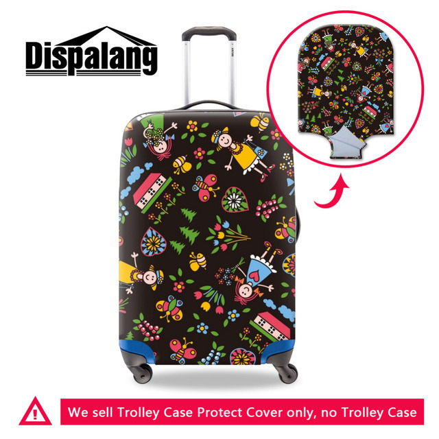 New Design Graffiti Flower Elastic Luggage Cover Girls Suitcase Cover For 18-30 Inch Travel Suitcase Luggage Protective Cover