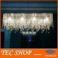 Mejor precio JH moderno Rectangular Crystal candelabros de cristal K9 techo de la lámpara accesorios restaurante llevó la iluminación E14 envío gratis