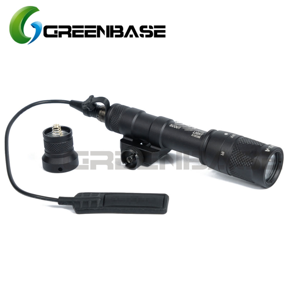 Greenbase M600V IR Scout Light White Light and IR Output Weapon Light LED Flashlight Hunting 400