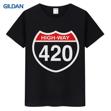 69be88f0ea84 New Tee Shirt Design 2017 Print Highway 420 Stoner T-Shirt Funny Weed Pot  Collage Designer T Shirt Designer T-Shirt For