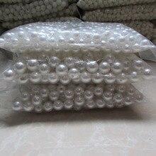Blanco perla agujero recto Del Pelo Accesorios diy perlas de imitación de alta al por mayor belleza del teléfono de DIY esencial 4mm-20mm 500g