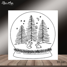 ZhuoAng Magic ball Transparent and Clear Stamp DIY Scrapbooking Album Card Making Decoration