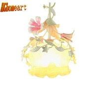 Top Nordic Simple Romantic Pastoral 110v 220v Led Pendant Lights E27 Cute Flowers Single Head Led