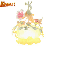 Top Nordic Simple Romantic Pastoral 110v 220v Led Pendant Lights E27 Cute Flowers Single Head Led