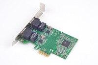 2 Port PCI Express Gigabit Ethernet Card Network Adapter 10/100/1000M for Server