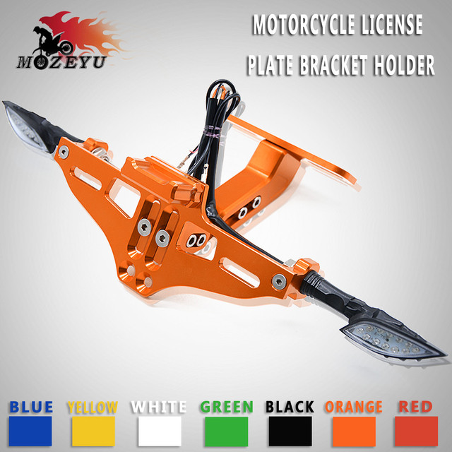 Motorcycle License Plate Holder Rear Registeration Plate Frame Mount Bracket for KTM RC Duke 125 200 390 690 990 1290 2013- 2017