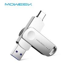 Moweek نوع C محرك فلاش USB 128 جيجابايت 64 جيجابايت OTG USB عصا 32 جيجابايت 16 جيجابايت 8 جيجابايت cle USB 3.0 القلم محرك عالية السرعة USB C فلاش حملة