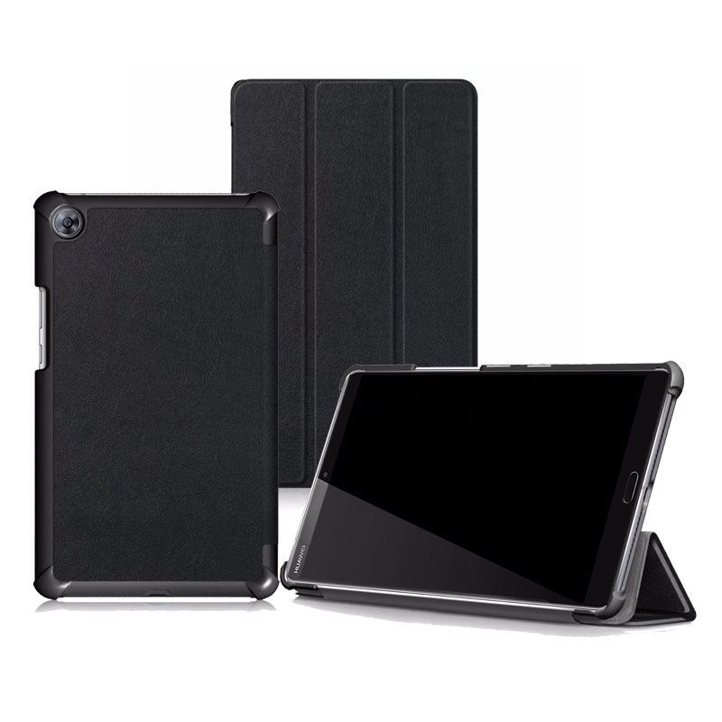 30PCS/Lot Slim Voltage Stand PU Cover For Huawei Mediapad M5 8.4 Flip Protective Case Skin SHT-AL09 SHT-W09