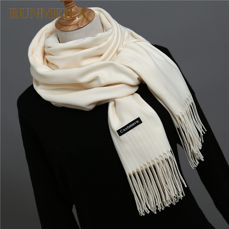 2018 luxury brand women   scarf   fashion soild autumn winter cashmere   scarves   lady warmer pashmina long   scarf     wraps   foulard femme