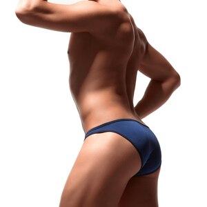 Image 2 - 5 sztuk Sexy męskie majtki miękka, oddychająca jedwabna seksowna bielizna męskie gorące biodra w górę przejrzyste Jockstrap kolorowe Undies cueca E 051