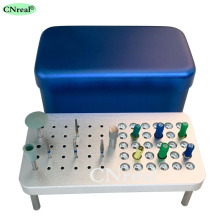 60 Holes Dental Sterilization Disinfection Holder Block Box Case For Burs Endo-files Polishing Kits dental endo box fg ra hp burs holder autoclave disinfection box 91 holes 4 holes 1 pan