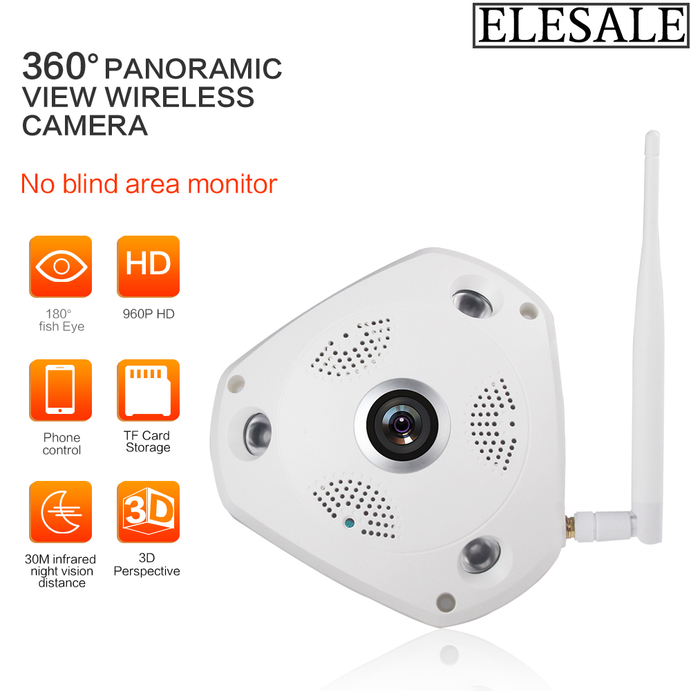 Фотография 360 Degree Panorama Camera HD 960P Wireless WIFI IP Camera Home Security Surveillance System ONVIF Webcam CCTV