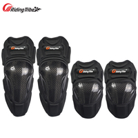 Riding Tribe Motorcycle Knee Guards Elbow Pads Carbon Fiber Motocross Racing Protective Gears Moto hands Leg Protector HX P18