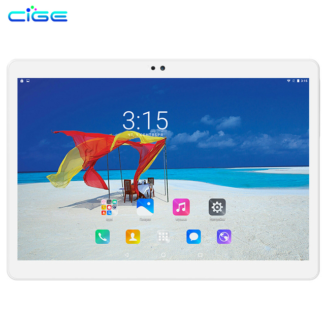 CIGE Free shipping 10.1 inch Tablets MTK8752 4G LTE Dual SIM WCDMA GPS 4GB/64GB Android 6.0 Tablet PC support Google Play store