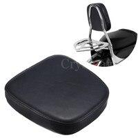 Black Universal Motorcycle Sissy Bar Backrest Cushion Pad For Harley Chopper Cruiser Motorbike Backrest Cushion Pad