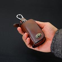 цены на SNCN Leather Car Key Case Cover Key Wallet Bag Keychain Holder For Mini John Cooper Works Cooper S ALL4 Accessory Genuine  в интернет-магазинах