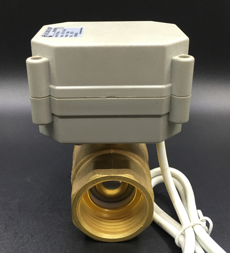 Image 2 - DC5V 12V 24V Metal Gear Motorized Valves Brass 1'' TF25 B2 Series 2/3/5/7 Wires 2 Way DN25 Electric Shut Off Valves-in Valve from Home Improvement