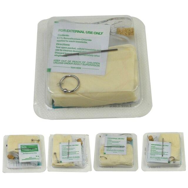 Descartáveis Pacote Unidade Para Tongue Bico Do Body Piercing Belly Umbigo Anel Labret Lábio Septo Captive Bead Jóias Machine Tool Kit