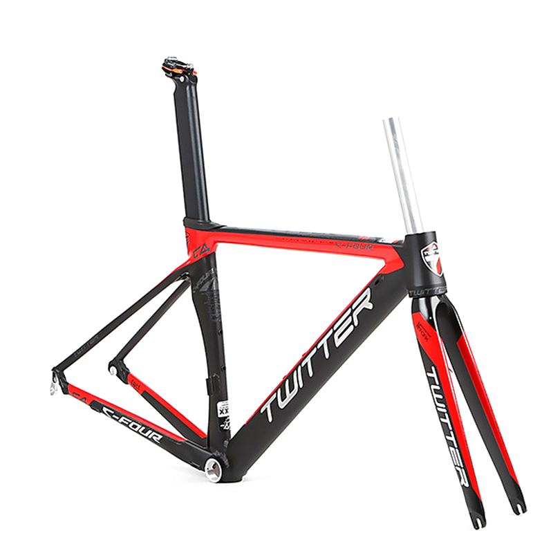 TWITTER Aluminum Alloy 700C Road Bike Frame Carbon Fork Road Bike Frame Smooth Welds Internal Cable Routing Road Bicycle Frame